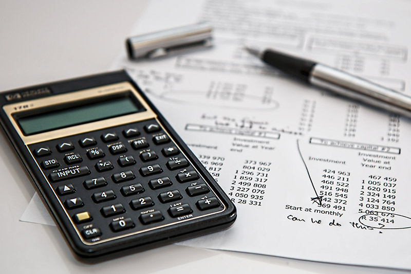 Calculator and financial information