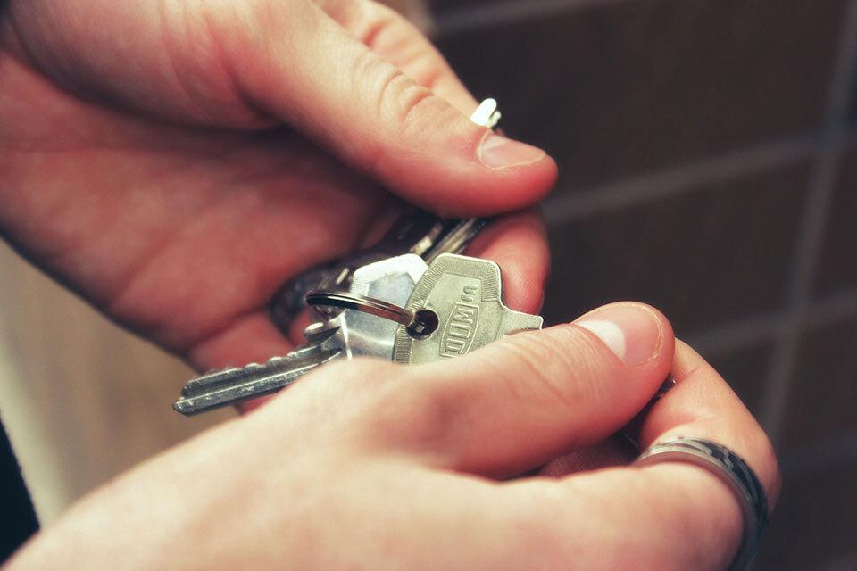 Property Owner holding house keys